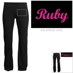 Ruby, yoga pants