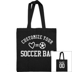 Custom Soccer Tote Bags For Mom