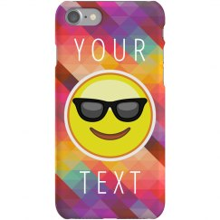 Custom iPhone Geometric Emoji Case