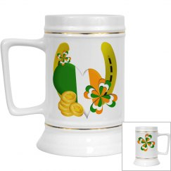Irish Luck, beer stein