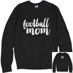 Custom Number Football Mom