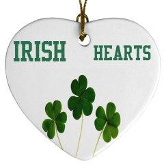 Irish Hearts Shamrocks