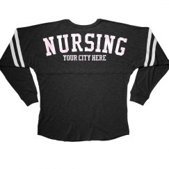 Blue Metallic Custom Nursing Jersey