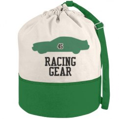 Racing Gear Round Duffel Bag
