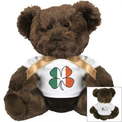 Irish Flag Shamrock Bear