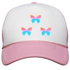 Pretty Butterfly Peak Cap
