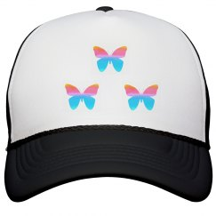 Pretty Butterfly Peak Cap