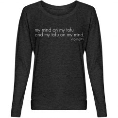 my mind on my tofu...slouch top
