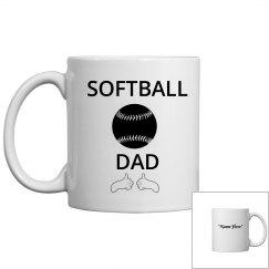 Thumbs up softball dad coffee mug