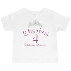 4th Bithday Princess