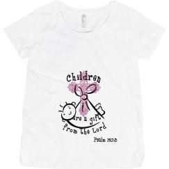 Psalm 127:3 Mat. lt pink
