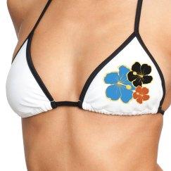 Flowering bikini top