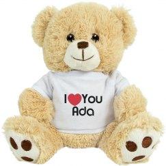 I love you Ada teddy bear