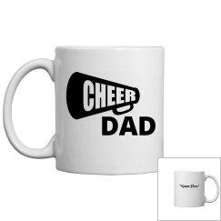 Cheer dad coffee mug