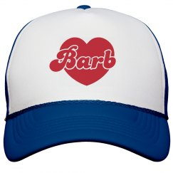 Barb in a Heart: Dustin's Hat