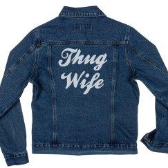 Thug Wife Life Denim Jacket