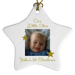 Our Little Star Xmas Ornament