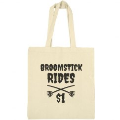 Broomstick Rides Halloween Tote