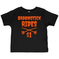 Broomstick Rides Halloween Tshirt Kids
