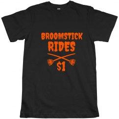Broomstick Rides Halloween Tshirt for Men
