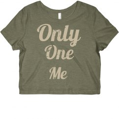 Only one me (crop shirt)