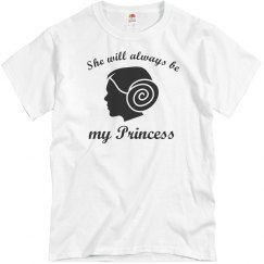 She Will Always Be My Princess Men's T-Shirt