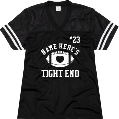 Cute Football Girlfriend Custom Mesh Jersey