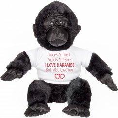 Harambe Valentine Poem Gift Bear