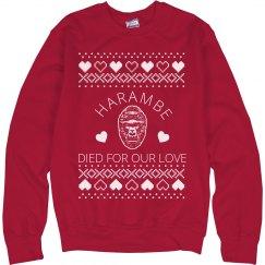 Harambe Valentine Ugly Sweater
