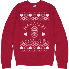 Harambe Is My Valentine Sweater