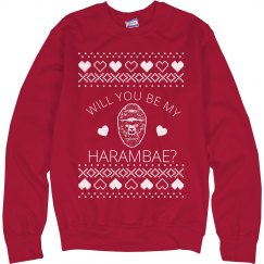 Be My Harambae Vday Ugly Sweater