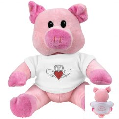 Irish Claddagh Pink Pig