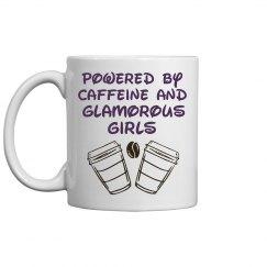 Glamorous girls and coffee