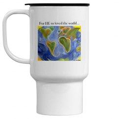 World mug with quote