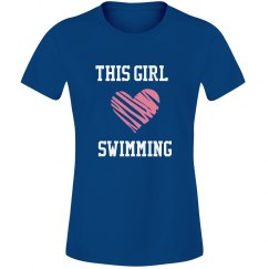 Girl loves swimming