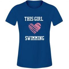 Girl loves swimming