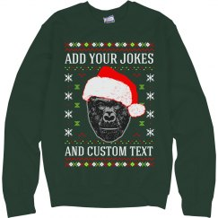 Custom Harambe Ugly Sweater