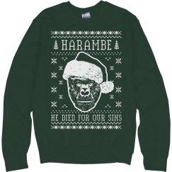 Christmas Harambe Ugly Sweater