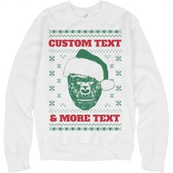 Custom Harambe Christmas Sweater
