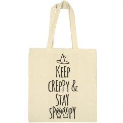 Keep Creppy and Stay Spoopy Halloween Tote