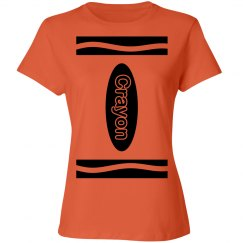 Orange Crayon Shirt Costume