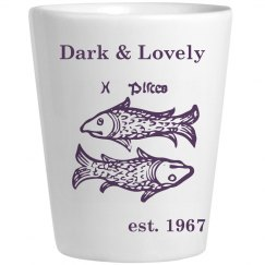 pisces purple shot glass