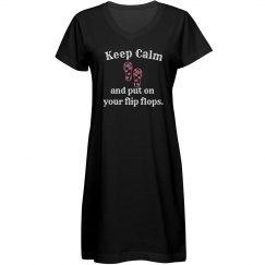 Keep Calm Cover Up - black