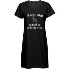 Keep Calm Cover Up - black