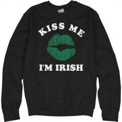Kiss Me I'm Irish Green Lips