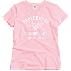 Custom Property Of Dept. Of Tennis