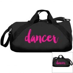 Black Pink Dancer Duffle Bag