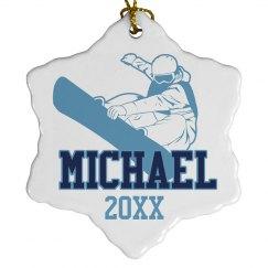 Snowboarding Ornament