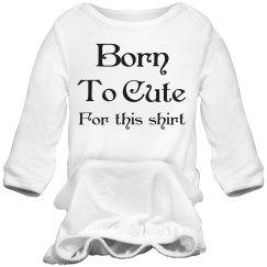 to cute infant onesie