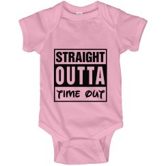 time out baby onsie
